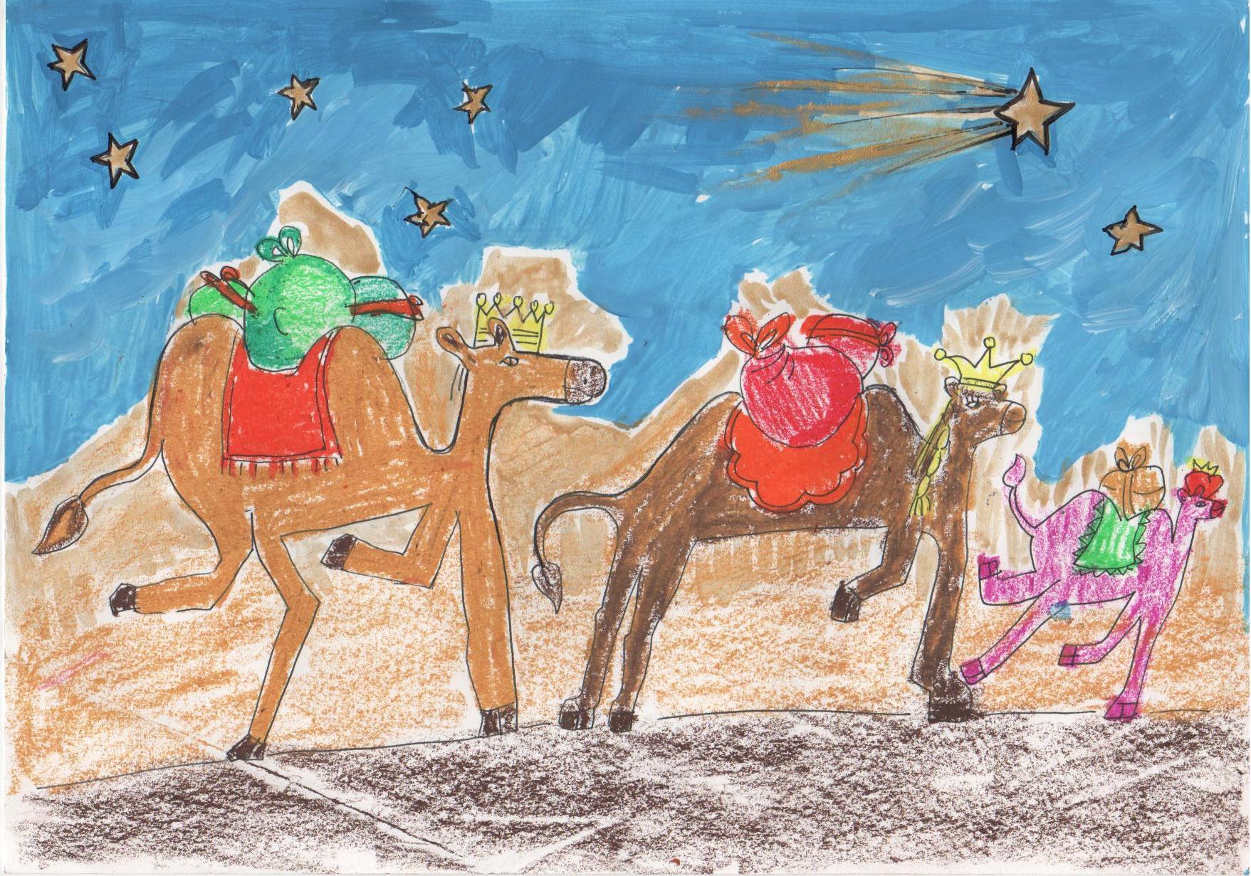Dibujos De Navidad Hechos Por Ninos.Dibujo Sobre La Navidad Realizado Por Juan Luis En Su